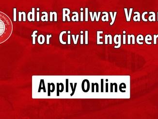 Junior Engineer(civil) Job in Indian Railway 2019