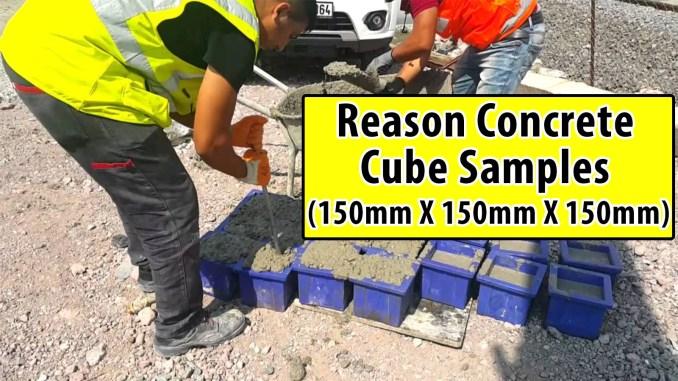 Reason concrete cube samples 150mm