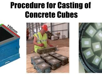 Procedure for Casting of Concrete Cubes