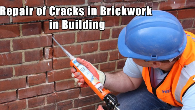 Repair of Cracks in Brickwork in Building