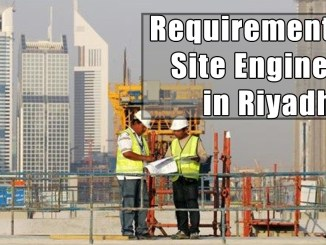 Requirement for Site Engineer in Riyadh