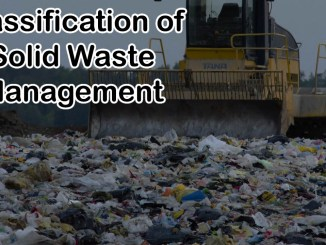 Classification of Solid Waste Management