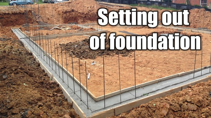 Setting out of foundation