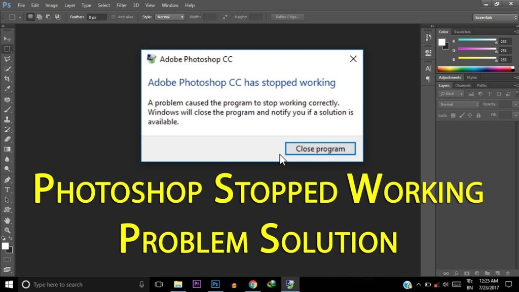 Solve Adobe Photoshop problems and issues by keeping it up-to-date