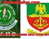 REGISTRATION FOR JAMB 2015 UTME INTO NDA