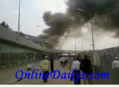 Murtala Muhammed International Airport fire outbreak photo 3