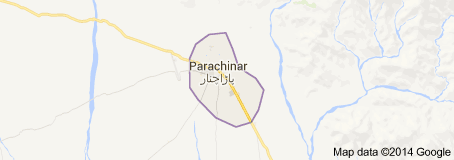 map of bomb hits school van in Parachinar