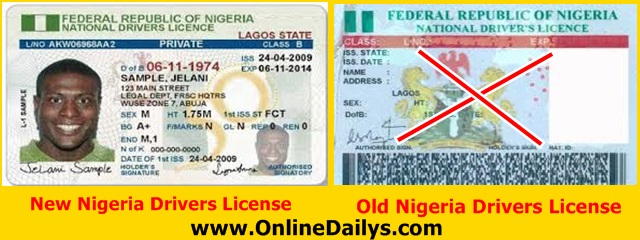 Renewal of Nigeria Drivers License guideline