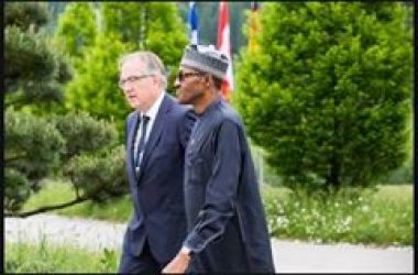 President of Nigeria convey in Garden-Mobile 2