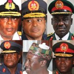 newly appointed service chiefs in Nigeria