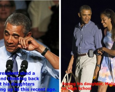 Malia Obama made her Dad Into A Crybaby