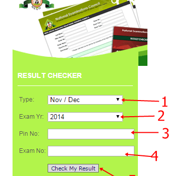 NECO SSCE 2015/2016 Result Checking