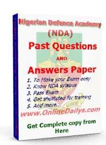 NDA past questions and answer paper banner