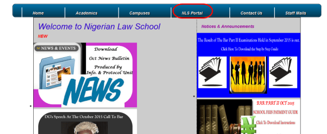 Check Nigerian Law School Bar Part II results September 2015