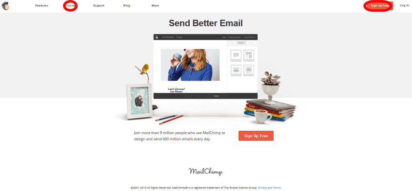 Mail Chimp Email Marketing Service