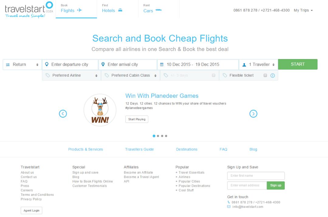 Travelstart Online Travel Agency