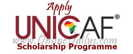 UNICAF Scholarship Programme application form