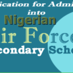 Nigerian Air Force 2016 Secondary School Admission Form is out