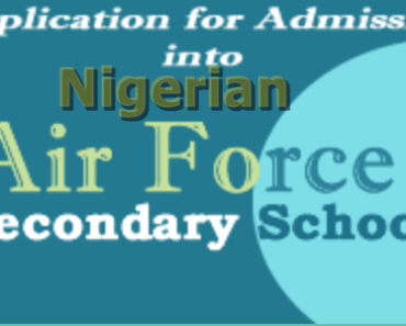 Nigerian Air Force 2016 Secondary School Admission