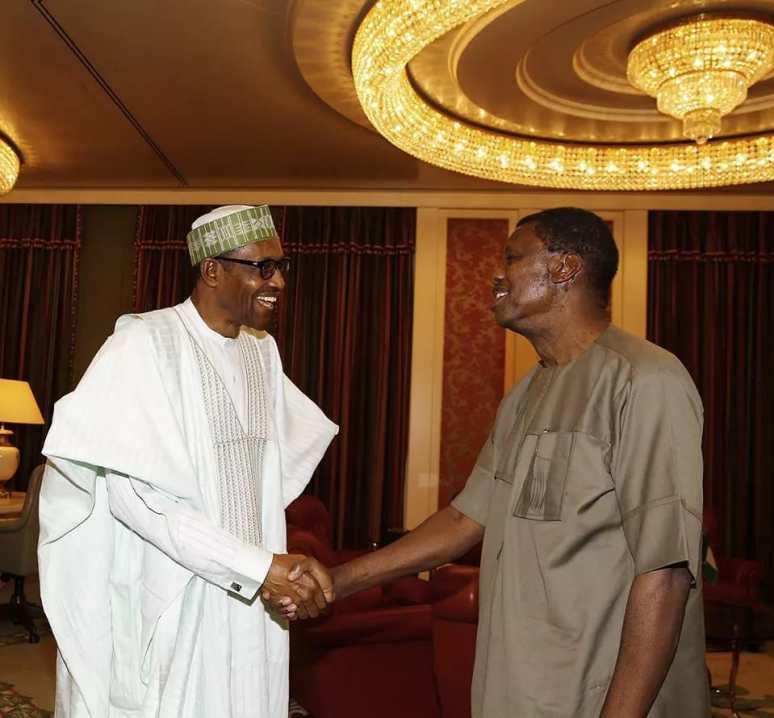 PHOTOS as Pastor Adeboye visits President Buhari 1