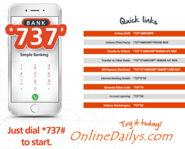GTBank Mobile Banking Codes