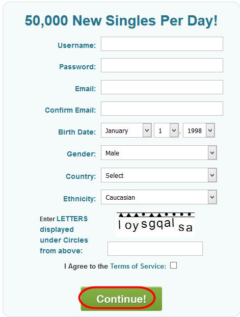 PlentyOfFish Account Registration
