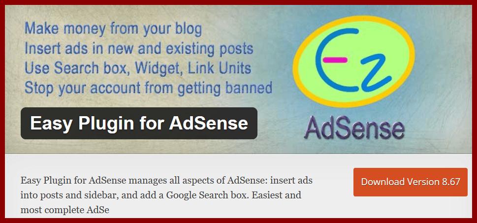 Easy Plugin for AdSense