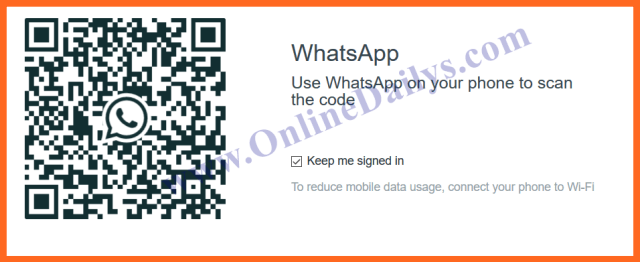 How to scan whatsapp code