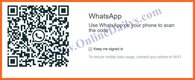 How to scan whatsapp code