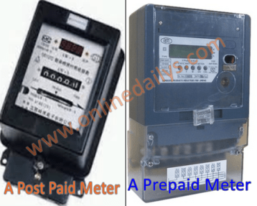 Difference Between A Post Paid Meter and A Prepaid Meter