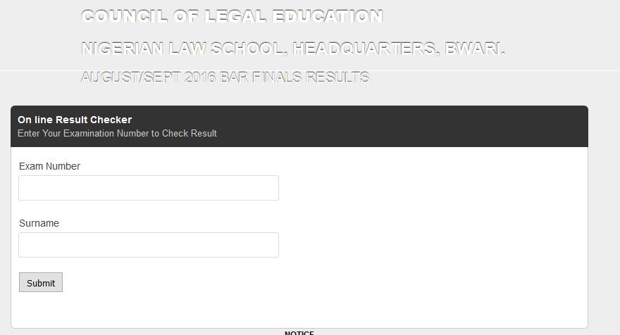 Nigerian Law School Portal