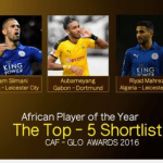 2016 CAF African Player Of The Year Award Nominees
