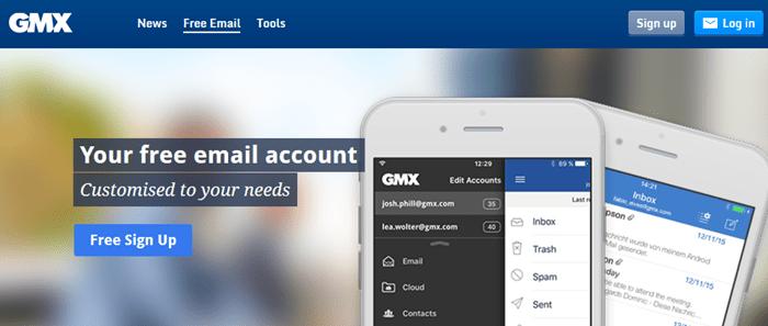 GMX Mail New Account Registration