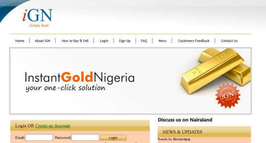 Logo of Instant Gold Nigeria