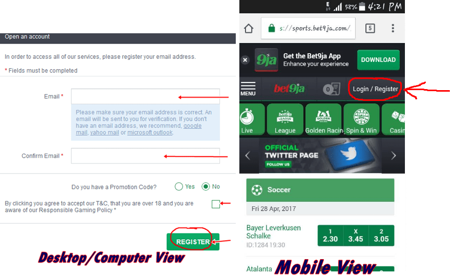 By Photo Congress || Bet9ja Old Mobile Site Login