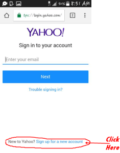 Ymail registration form