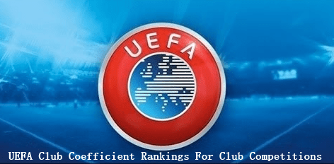 UEFA Club Coefficient Rankings For Club Competitions