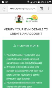 N-Power Online Registration On Mobile Phone