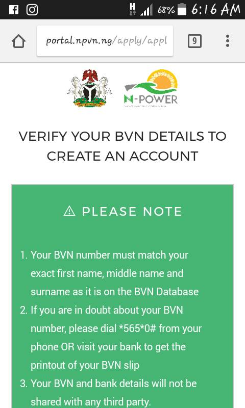 N-Power Online Registration On Mobile Phone – Step By Step Guide