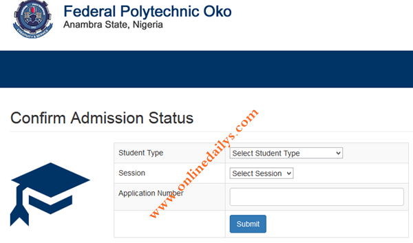 Fed Poly Oko 1st Batch HND 2017/2018 Admission List Is Out