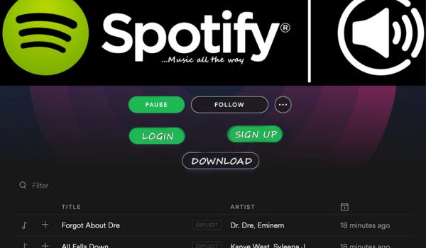 Logo Spotify Login Web Player Account