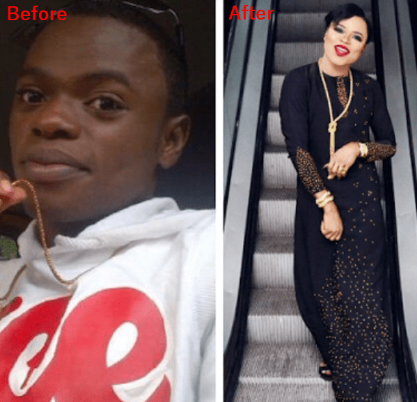 Bobrisky's Before and After pictures