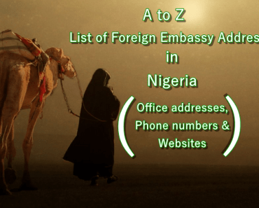 Foreign Embassy Addresses banner