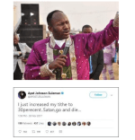 Apostle Suleiman Vs Daddy Freeze Latest TITHE Update On Twitter