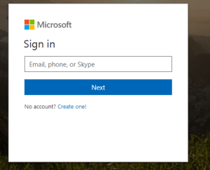 Microsoft Login Form