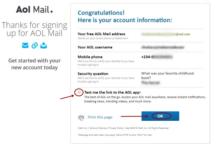 AOL Mail Registration Form | Sign Up AOL Mail Account Free - mail.aol.com 1