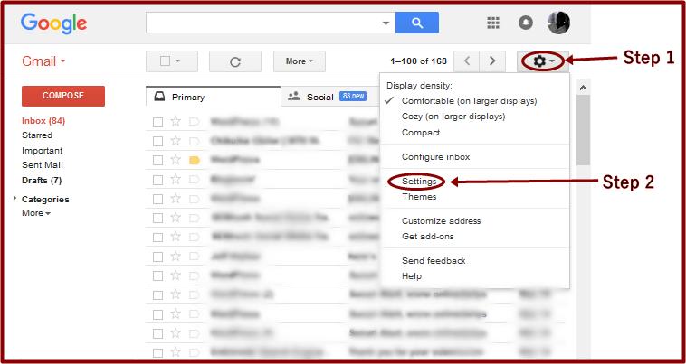 Gmail Edit Account sample