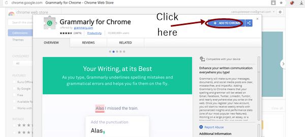 Grammarly toolbar install