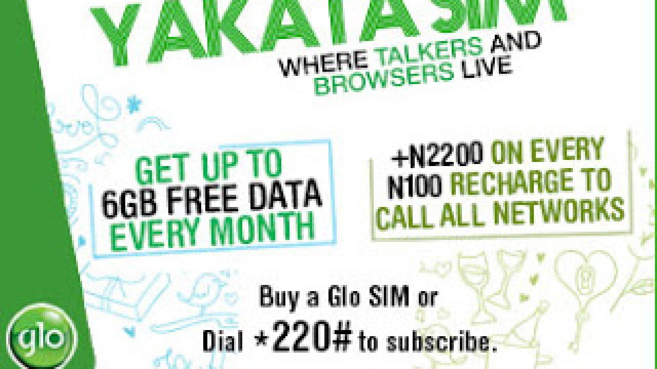 Get Free 6GB With Glo Yakata Prepaid Plan - ONLINE DAILYS