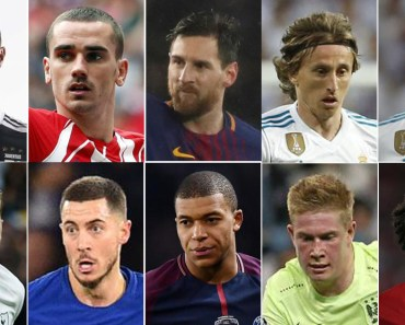 The Best FIFA Football Awards Nominees - See Full List Here